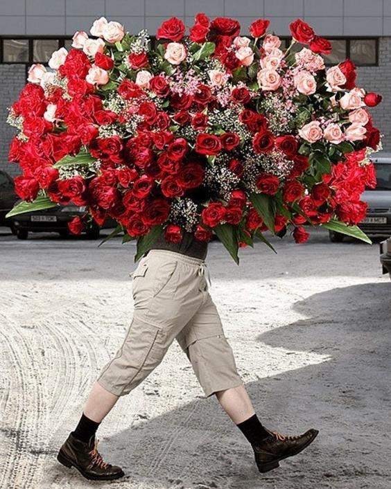 Доставка цветов приносит поздравления каждый день